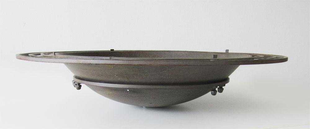Gartendeko Schale / Feuerkorb Metall dunkelbraun Ø76cm Bild 2