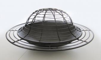 Gartendeko Schale / Feuerkorb Metall dunkelbraun Ø76cm Bild 1