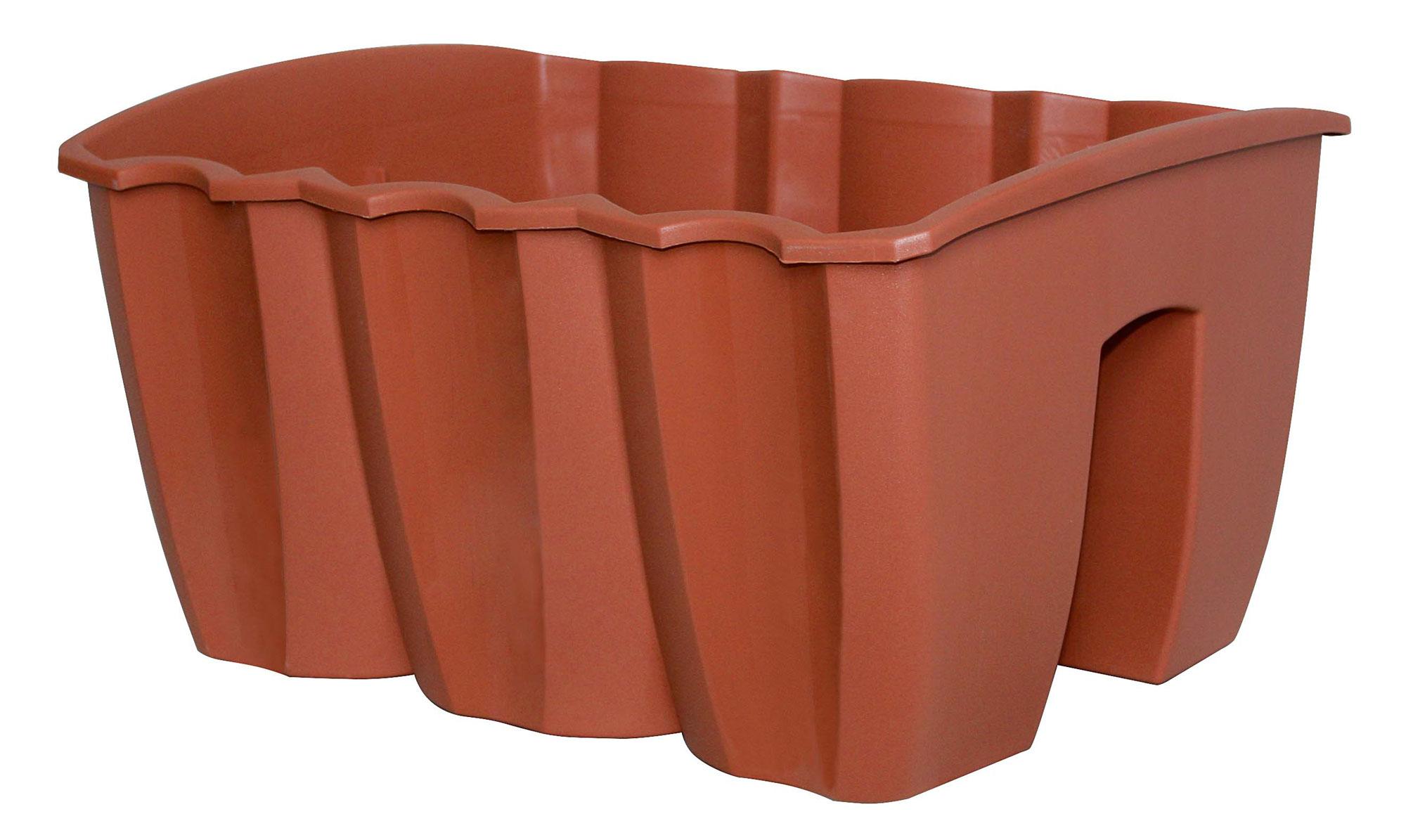 Geländerblumentopf doppelt Crown 39,5 cm terracotta Bild 1