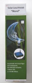 LED Solar Leuchtstab / Gartenstecker Mond 79cm Bild 1