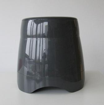 Pflanzgefäß / Pflanztopf M-Line Kunststoff grau Hochglanz Ø36x45cm Bild 1