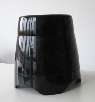 Pflanzgefäß / Pflanztopf M-Line Kunststoff schwarz Hochglanz Ø36x45cm Bild 1