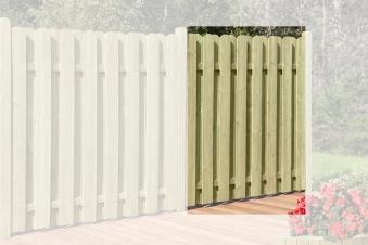 Sichtschutzzaun / Bohlenzaun-Element Holz kdi 180x180cm Bild 1
