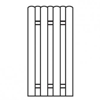 Sichtschutzzaun / Bohlenzaun-Element Holz kdi 90x180cm