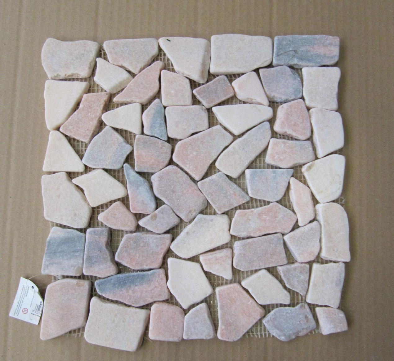 Steinmatte Mosaik terracotta 30x30cm Bild 1