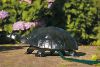 Schlauchaufroller Schildkröte Aluminiumguss grün Bild 1