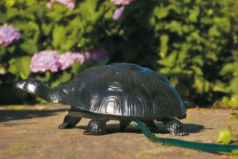 Schlauchaufroller Schildkröte Aluminiumguss schwarz Bild 1