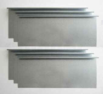 Schneckenzaun / Schneckenblech Metall 300x20cm Set Bild 1
