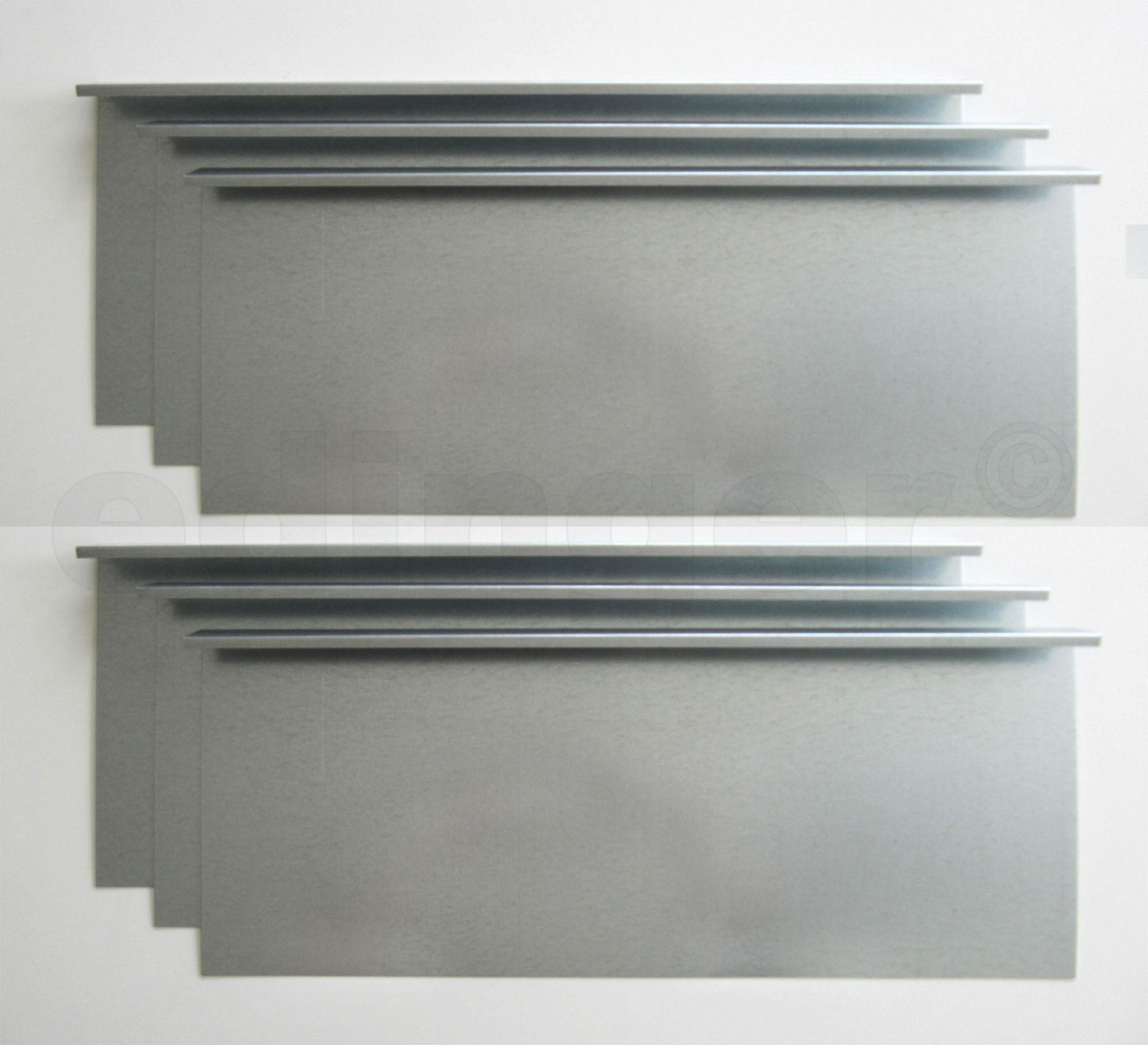 Schneckenzaun / Schneckenblech Metall 600x20cm Set Bild 1
