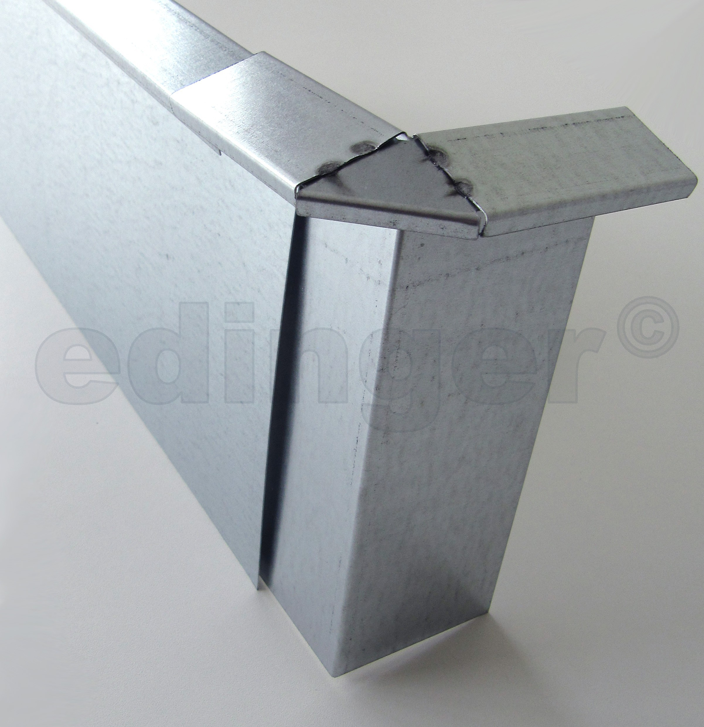 Schneckenzaun / Schneckenblech Metall Eckverbindung 90° Bild 2