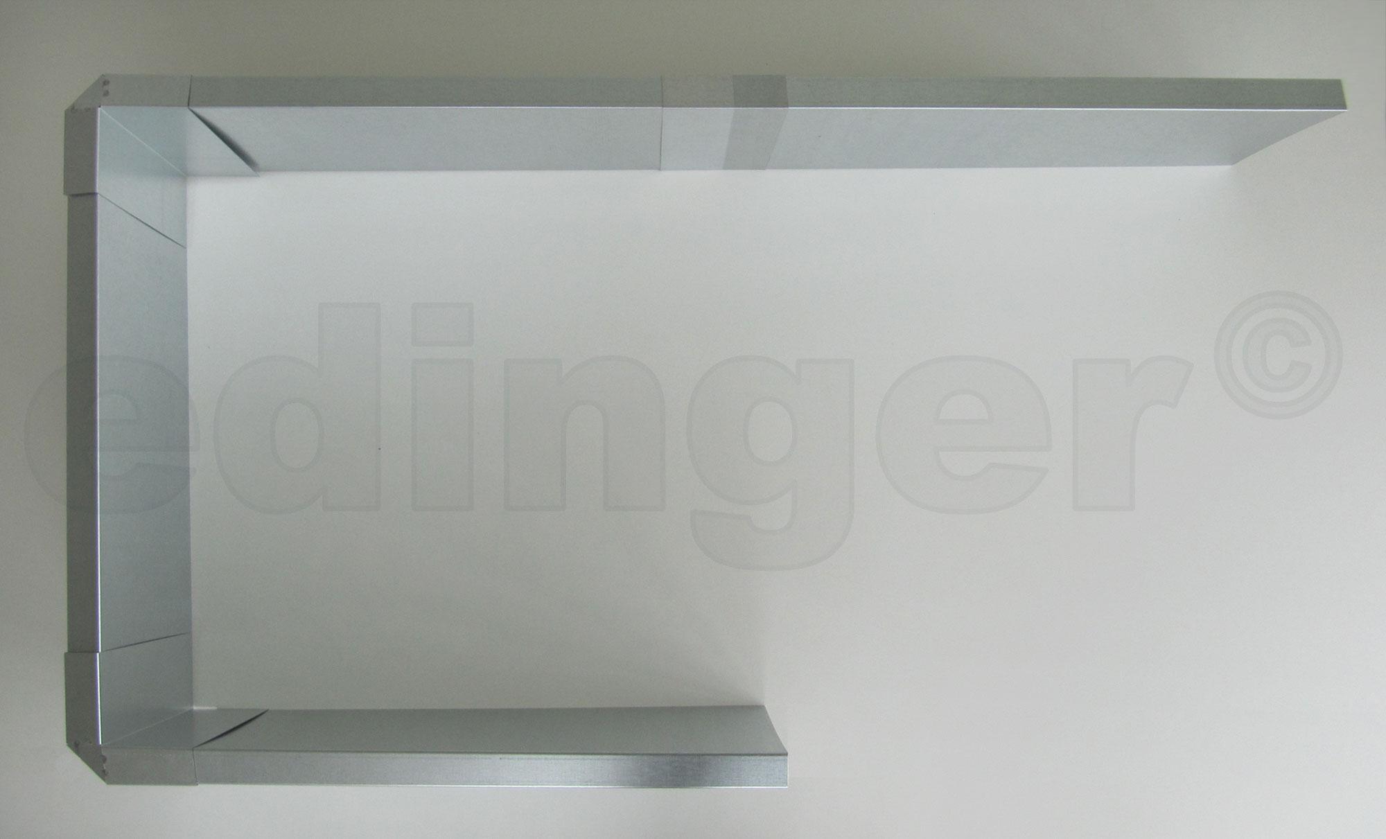 Schneckenzaun / Schneckenblech Metall für 2 m² Set Bild 2
