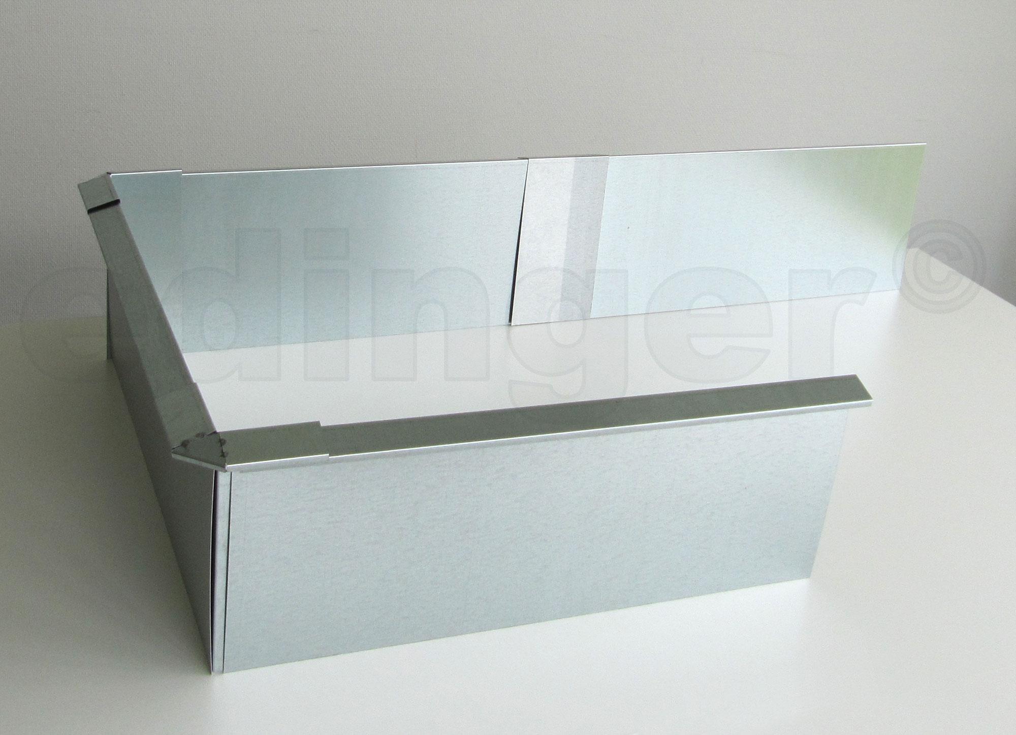 Schneckenzaun / Schneckenblech Metall für 2 m² Set Bild 3