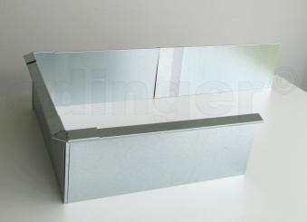 Schneckenzaun / Schneckenblech Metall für 4 m² Set Bild 3