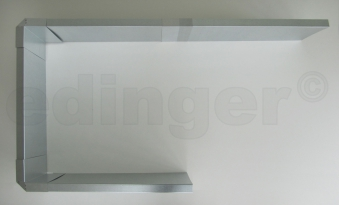 Schneckenzaun / Schneckenblech Metall für 6 m² Set Bild 2