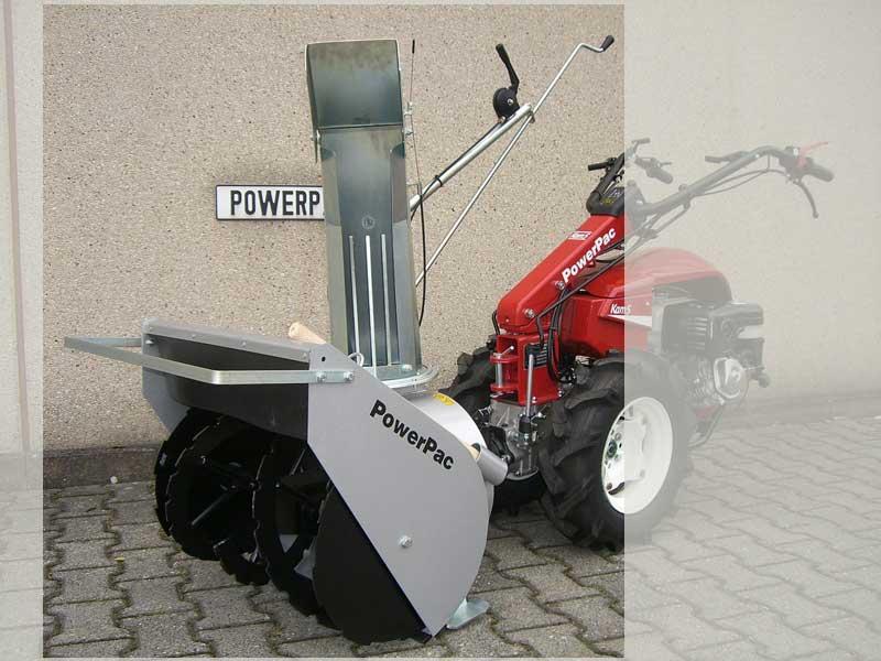 Powerpac Schneefräse doppelstufig für Einachser KAM5 Breite 60cm Bild 1