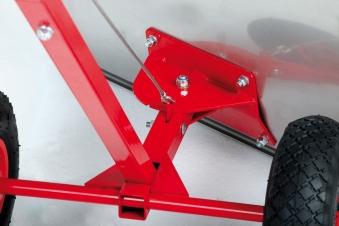 Powerpac Schneeschieber / Schneeräumer mit Reifen 74cm Bild 3
