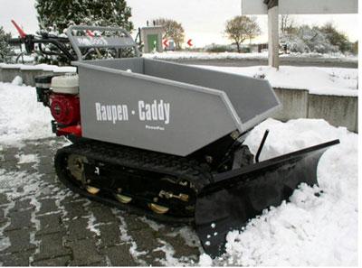 Powerpac Schneeschild 85cm hydraulisch für Raupen-Caddy RC500 Bild 2