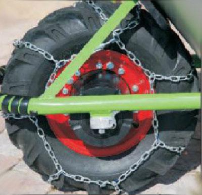 Schneekette / Radkette für Reifen 10cm-Felge für MOTOkarre Bild 1