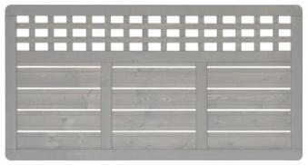 Sichtschutz / Zaun Elsass Zaunelement Fichte grau lasiert 180 x 95 cm Bild 2
