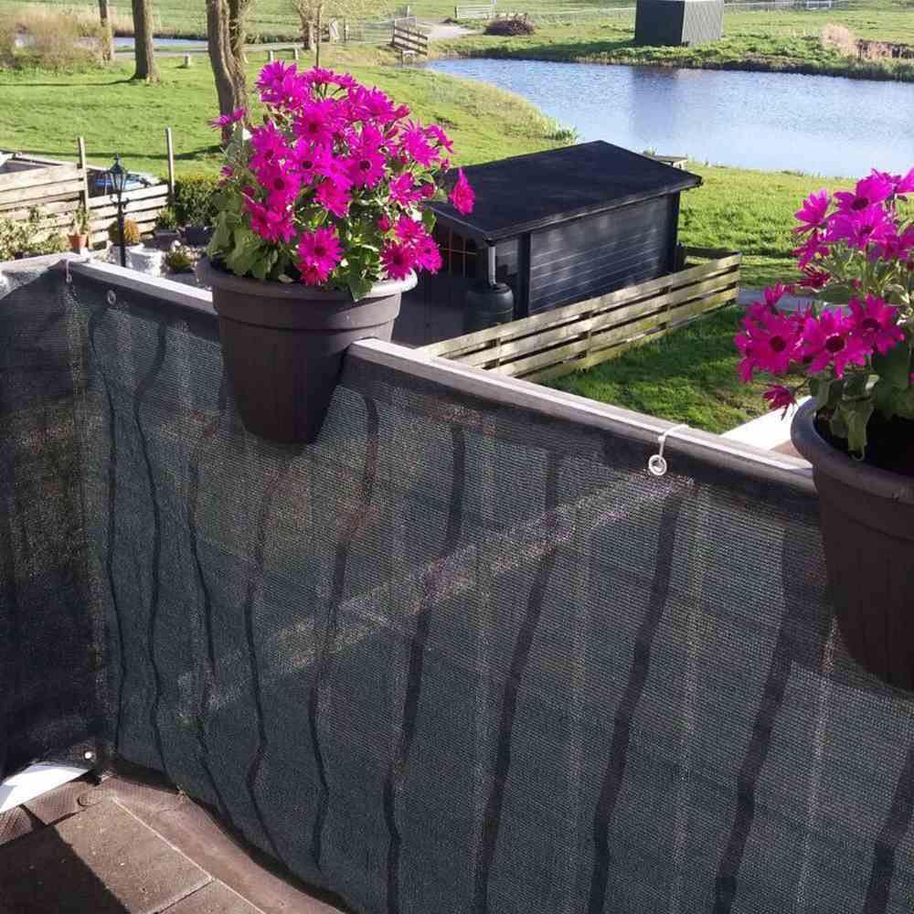 Balkon Sichtschutz / Balkonumspannung 500x90cm antharzit Bild 2