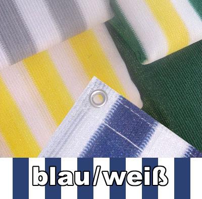 Balkon Sichtschutz / Balkonumspannung 500x90cm blau/weiß gestreift Bild 1