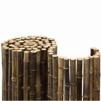 Bambusmatte Black Bambus Sichtschutz 1,80 x 2 m Ø ca. 20-35 mm Bild 1