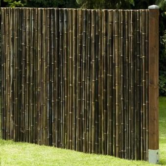 Bambusmatte Black Bambus Sichtschutz 1,80 x 2 m Ø ca. 20-35 mm Bild 2