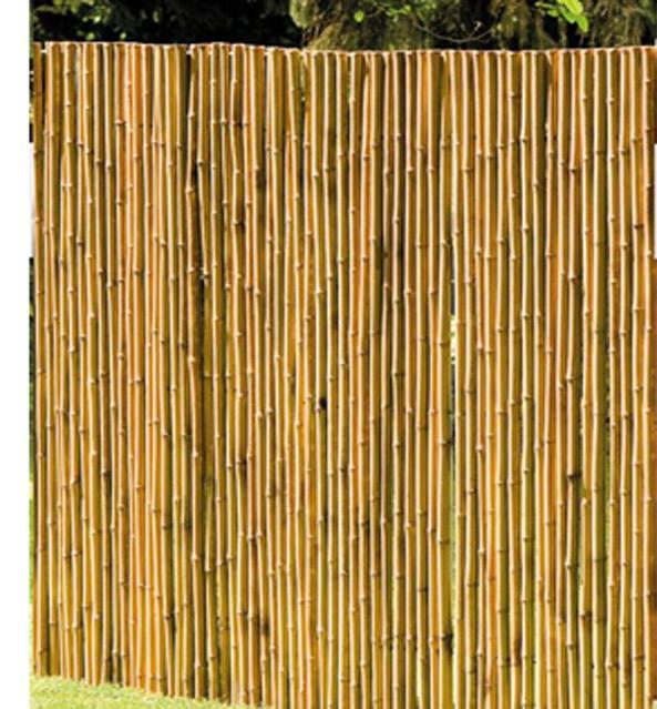 Bambusmatte Deluxe Sichtschutzmatte 2,00 x 2,00 m Ø ca. 20-35 mm Bild 2