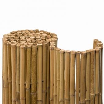 Bambusmatte Deluxe Sichtschutzmatte 2,00 x 2,00 m Ø ca. 20-35 mm Bild 1