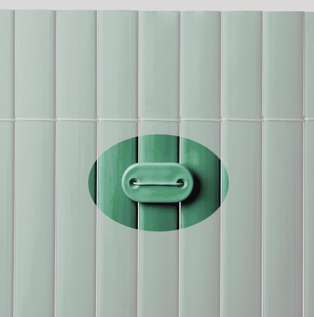 Befestigung zu Sichtschutzmatten PVC Noor 26 Stück grün Bild 1