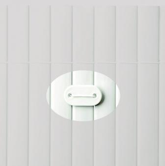 Befestigung zu Sichtschutzmatten PVC Noor 26 Stück weiß Bild 1