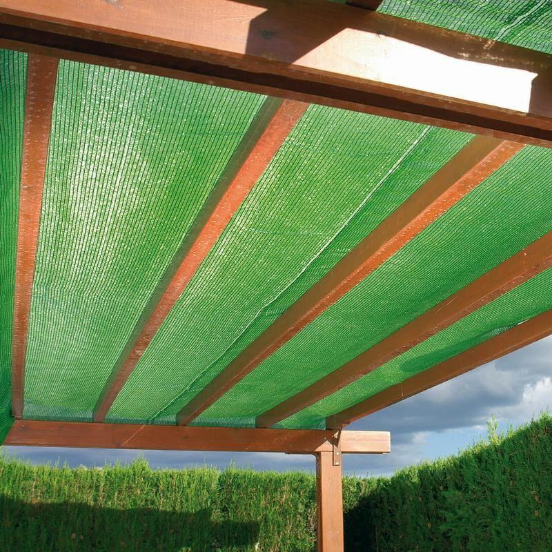 Sichtschutz / Schattiergewebe 100% Noor 2x10m hellgrün Bild 2
