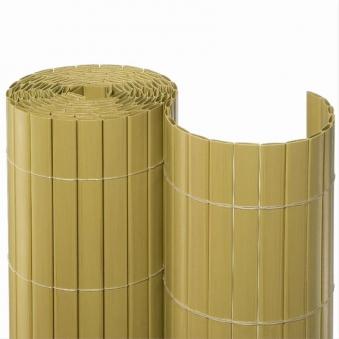 Sichtschutzmatte PVC Noor 0,9x10m Bambus Bild 1