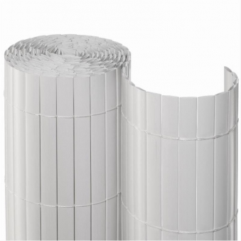 Sichtschutzmatte PVC Noor 0,9x3m weiß Bild 1