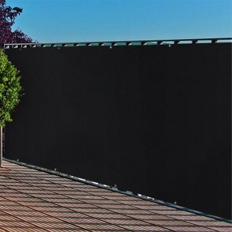 Sichtschutzzaun / Balkonblende PP mit Ösen Noor 90x300cm anthrazit Bild 1