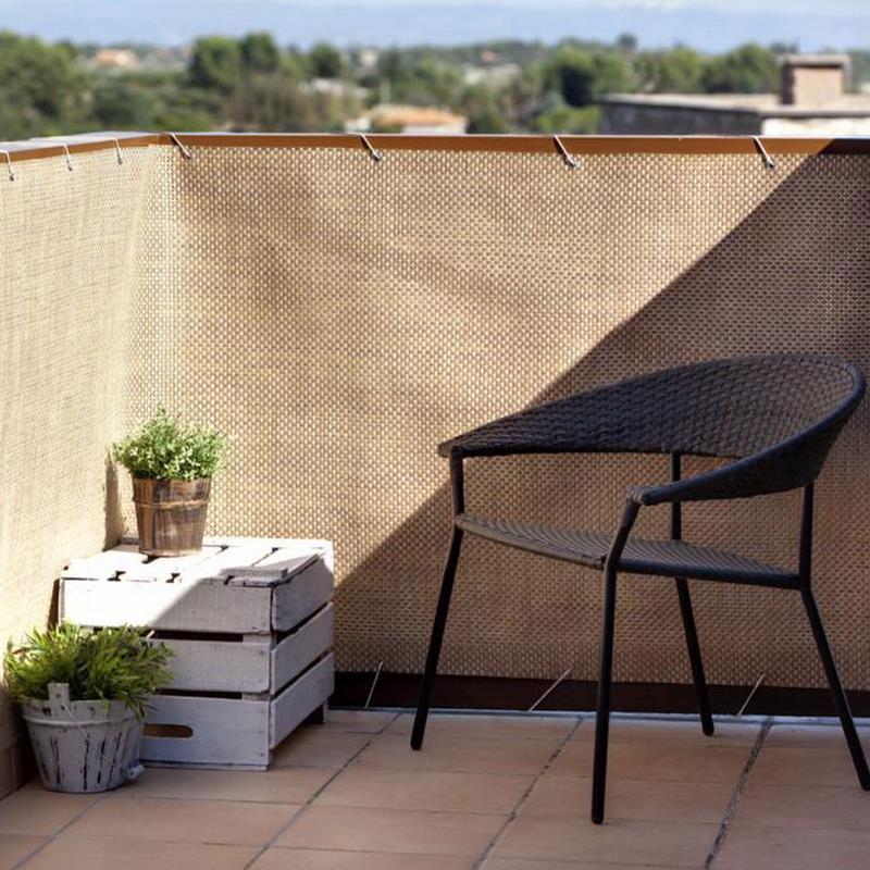 Sichtschutzzaun / Balkonblende exklusiv Rattan Noor 90x300cm kupfer Bild 3