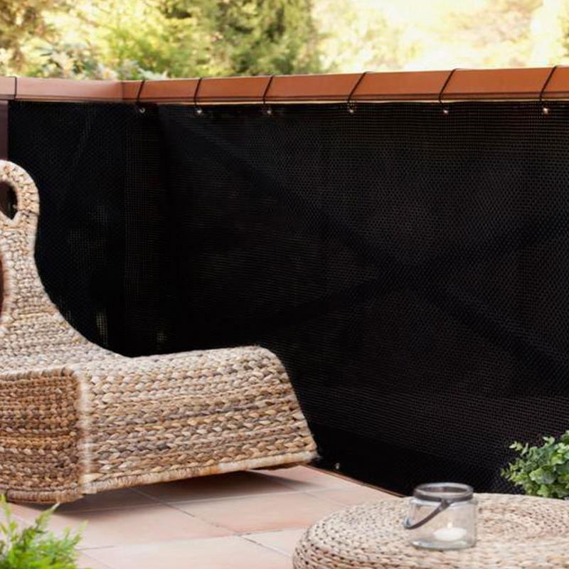 Sichtschutzzaun / Balkonblende exklusiv Rattan Noor 90x300cm schwarz Bild 3