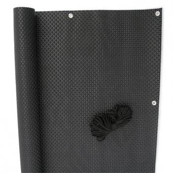 Sichtschutzzaun / Balkonblende exklusiv Rattan Noor 90x300cm schwarz Bild 2