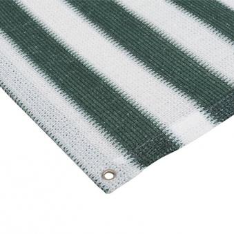 Sichtschutzzaun / Balkonblende mit Ösen Noor 90x250cm grün weiß Bild 2