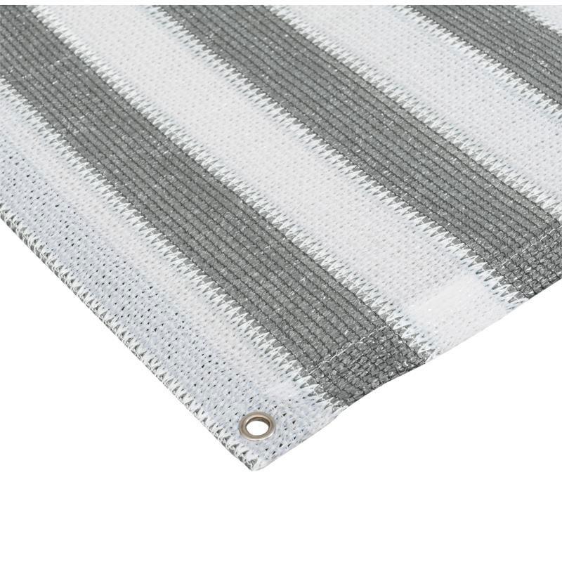 Sichtschutzzaun / Balkonblende mit Ösen Noor 90x300cm grau weiß Bild 2