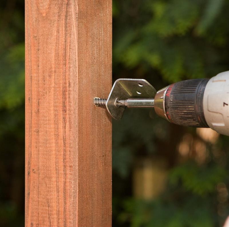 Zaunbeschlag Noor für Sichtschutz 40x35x30mm Edelstahl Bild 2