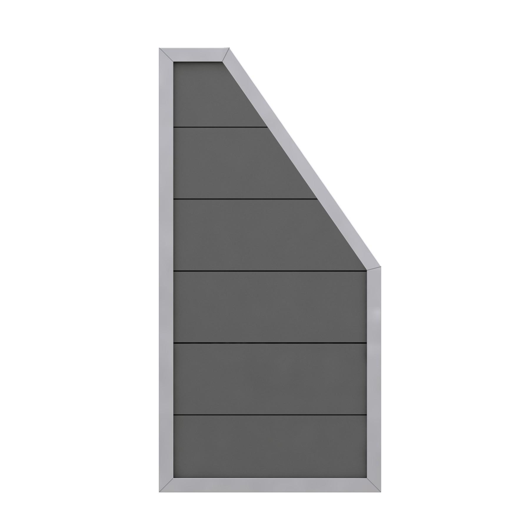 sichtschutzzaun design wpc alu anschlussteil anthrazit 90x180 90cm bei. Black Bedroom Furniture Sets. Home Design Ideas