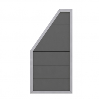 Sichtschutzzaun Design WPC Alu Anschlussteil anthrazit 90x180/90cm Bild 1