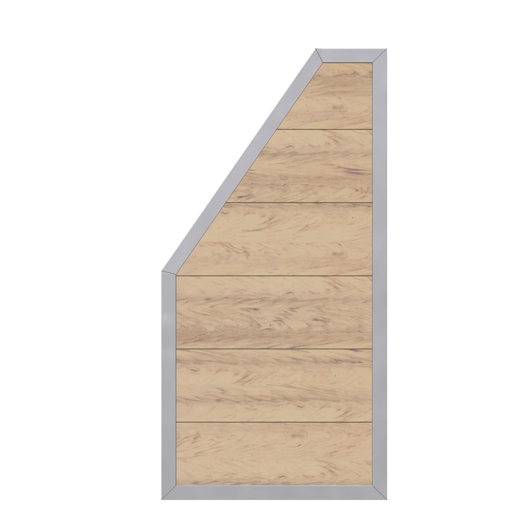 Sichtschutzzaun Design WPC Alu Anschlussteil sand 90x180/90cm Bild 2