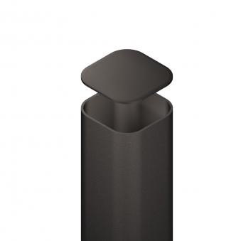 Metallpfosten für Zaun zum Aufschrauben anthrazit 7x7x195cm
