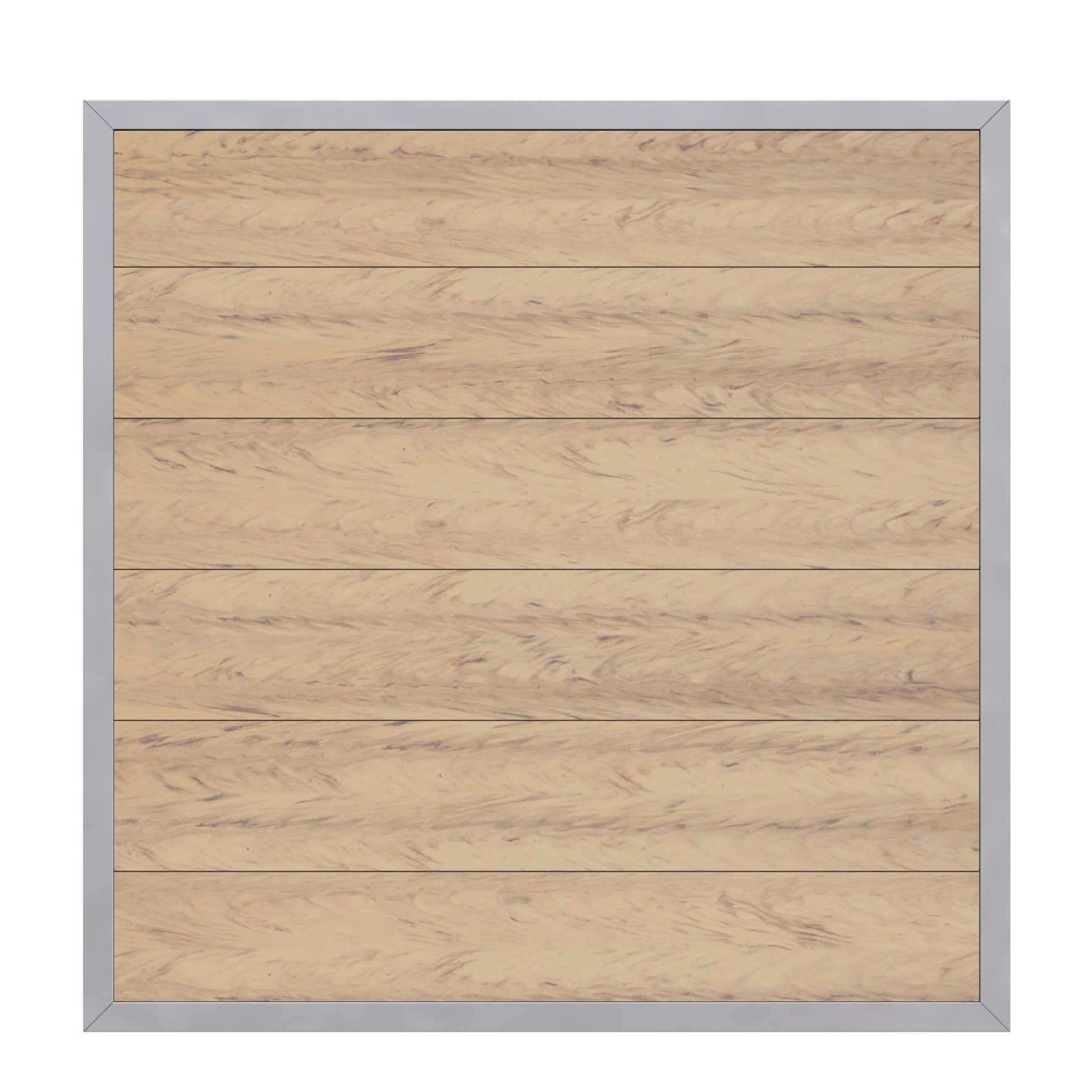 sichtschutzzaun design wpc alu sand 180x180cm bei. Black Bedroom Furniture Sets. Home Design Ideas