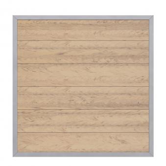 Sichtschutzzaun Design WPC Alu sand 180x180cm Bild 1