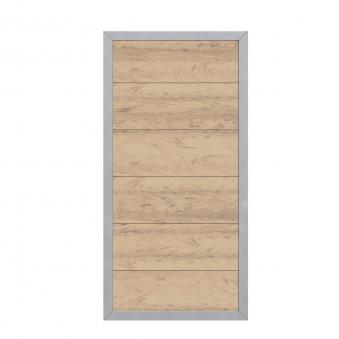 Sichtschutzzaun Design WPC Alu sand 90x180cm Bild 1