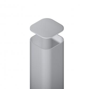 Metallpfosten für Zaun zum Aufschrauben silber 7x7x195cm