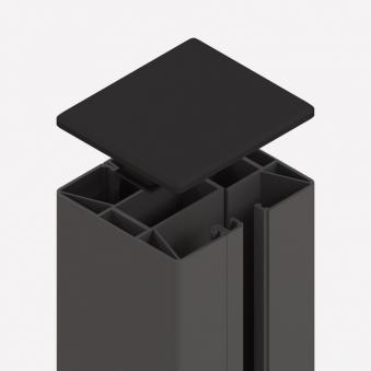 Sichtschutzzaun SYSTEM Klemmpfosten anthrazit 7,7x7,4x105cm Bild 1